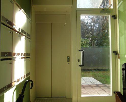 Porta scorrevole per ascensore chiusura dx , colore PPS 11